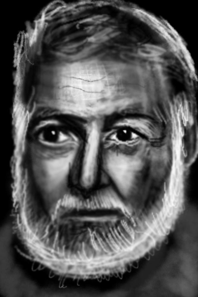 Ernest Hemingway by Zilmari